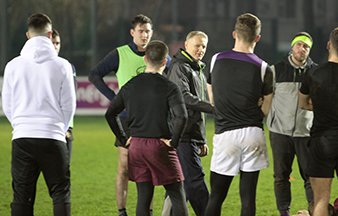 Joe Schmidt training session with Terenure College RFC Under 20s