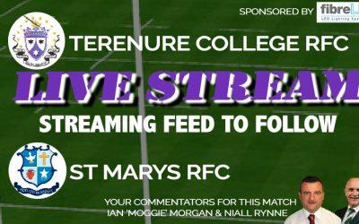 LiveStream: Terenure College RFC vs St Marys RFC