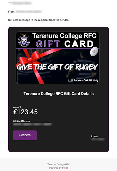 Terenure College RFC Gift Card