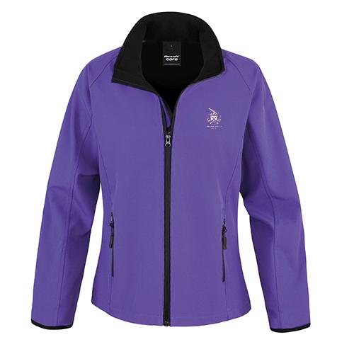 Ladies Softshell Jacket (Purple)