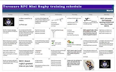 Mini Rugby Training Schedule